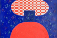 "Pia Myrvold ""Timeconstruction, blå"" Akryl på papir (86x58 cm) kr 9500 mr"