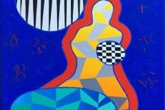 "Pia Myrvold ""Venus II"" Akrylmaleri (55x46 cm) kr 18000 ur"