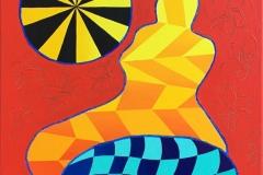 "Pia Myrvold ""Venus III"" Akrylmaleri (55x46 cm) kr 18000 ur"