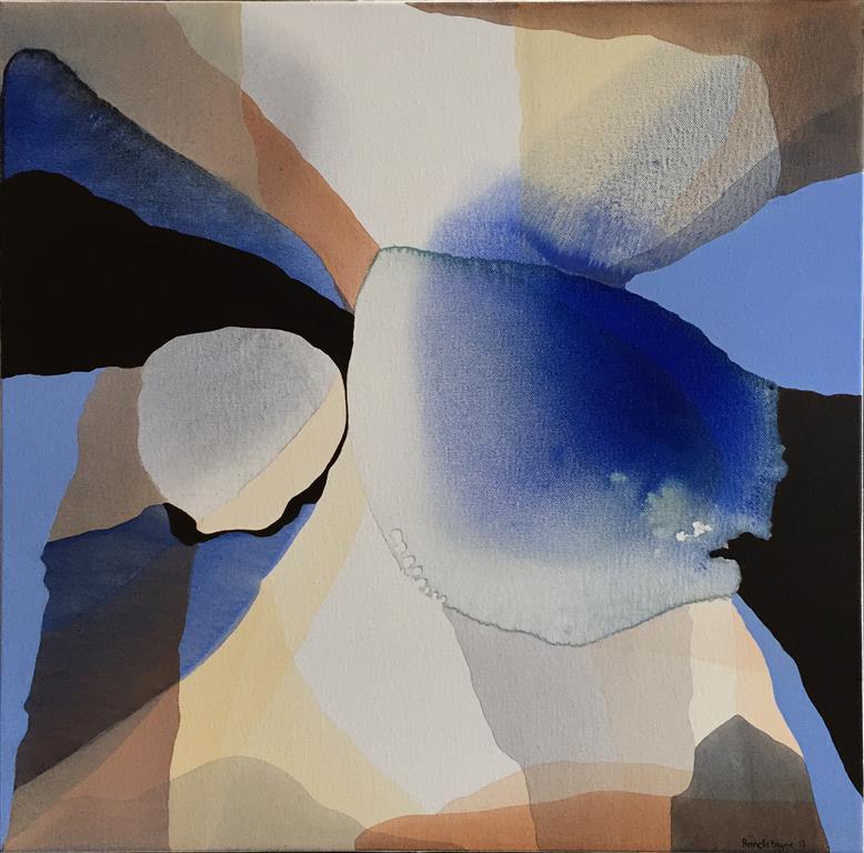 """Annette Bryne """"Fargeflyt I"""" Akrylmaleri (50x50 cm) kr 5000 ur"""