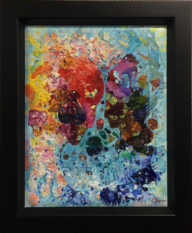 "Elena Vorobyeva ""Palett I"" Oljemaleri (30x24 cm) kr 4000 mr"