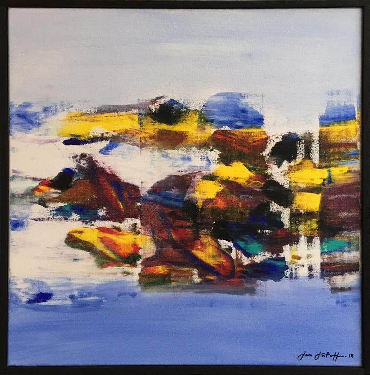 "Jan Kristoffersen ""Vinter"" Akrylmaleri (50x50 cm) kr 5200 mr"