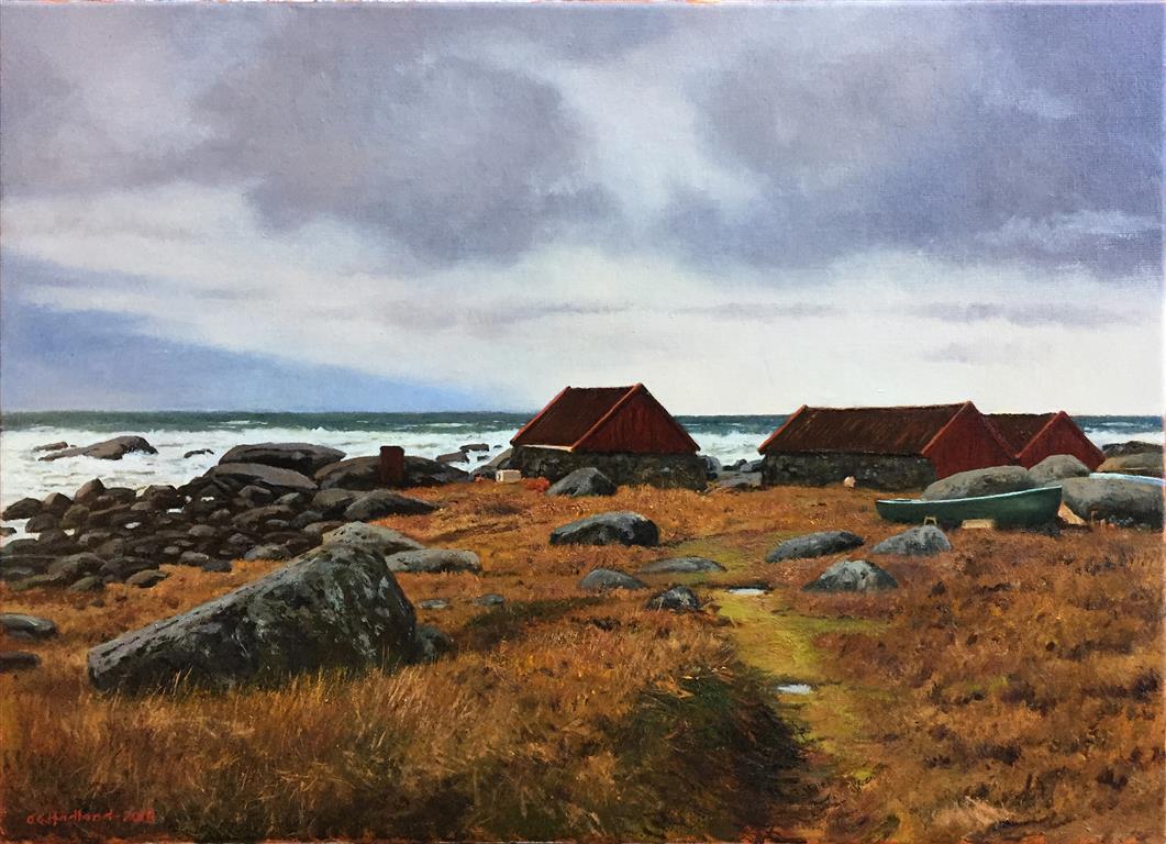 """Odd-Geir Hadland """"Fra Brusand"""" Oljemaleri (50x70 cm) kr 15000 ur"""
