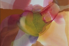 "Annette Bryne ""Fargeflyt II"" Akrylmaleri (50x50 cm) kr 5000 ur"