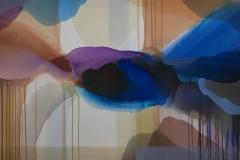 "Annette Bryne ""Fargeflyt III"" Akrylmaleri (80x120 cm) kr 13000 ur"
