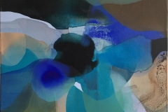 "Annette Bryne ""Fargeflyt IV"" Akrylmaleri (60x60 cm) kr 6000 ur"