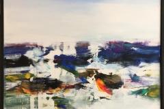 """Jan Kristoffersen """"Ut mot havet I"""" Akrylmaleri (60x60 cm) kr 6500 mr"""