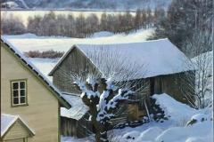 "Odd-Geir Hadland ""Fra Vindafjord"" Oljemaleri (98x68 cm) kr 20000 ur"