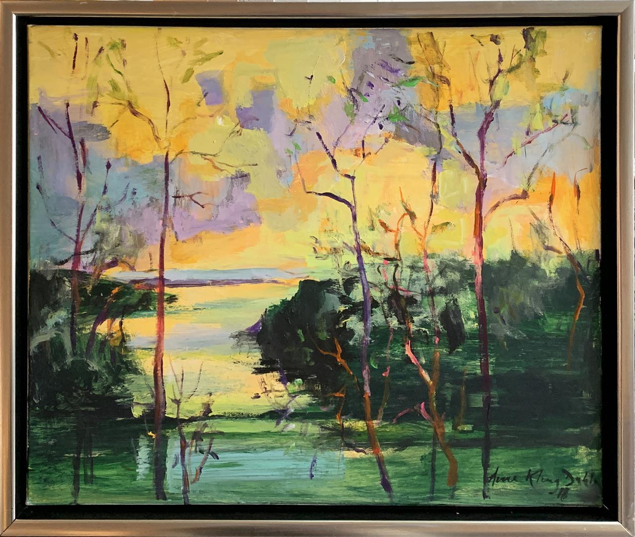 Arne Kleng Dahle: Førsommerkveld Akrylmaleri (50x60 cm) kr 6000 mr