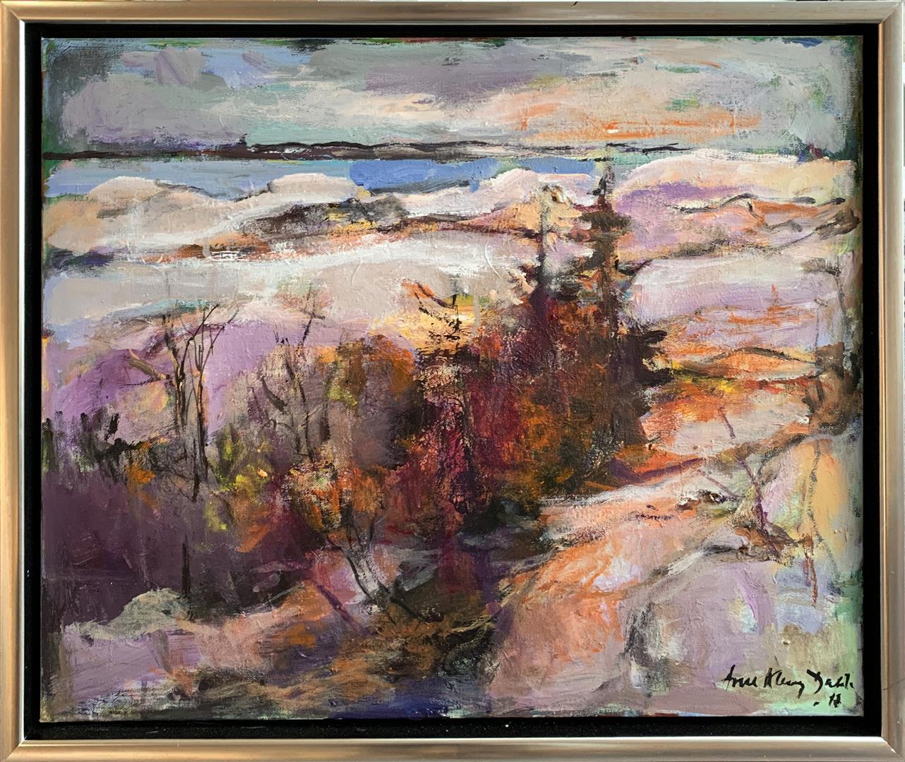 Arne Kleng Dahle: Senhøst i skjærgården Akrylmaleri (50x60 cm) kr 6000 mr