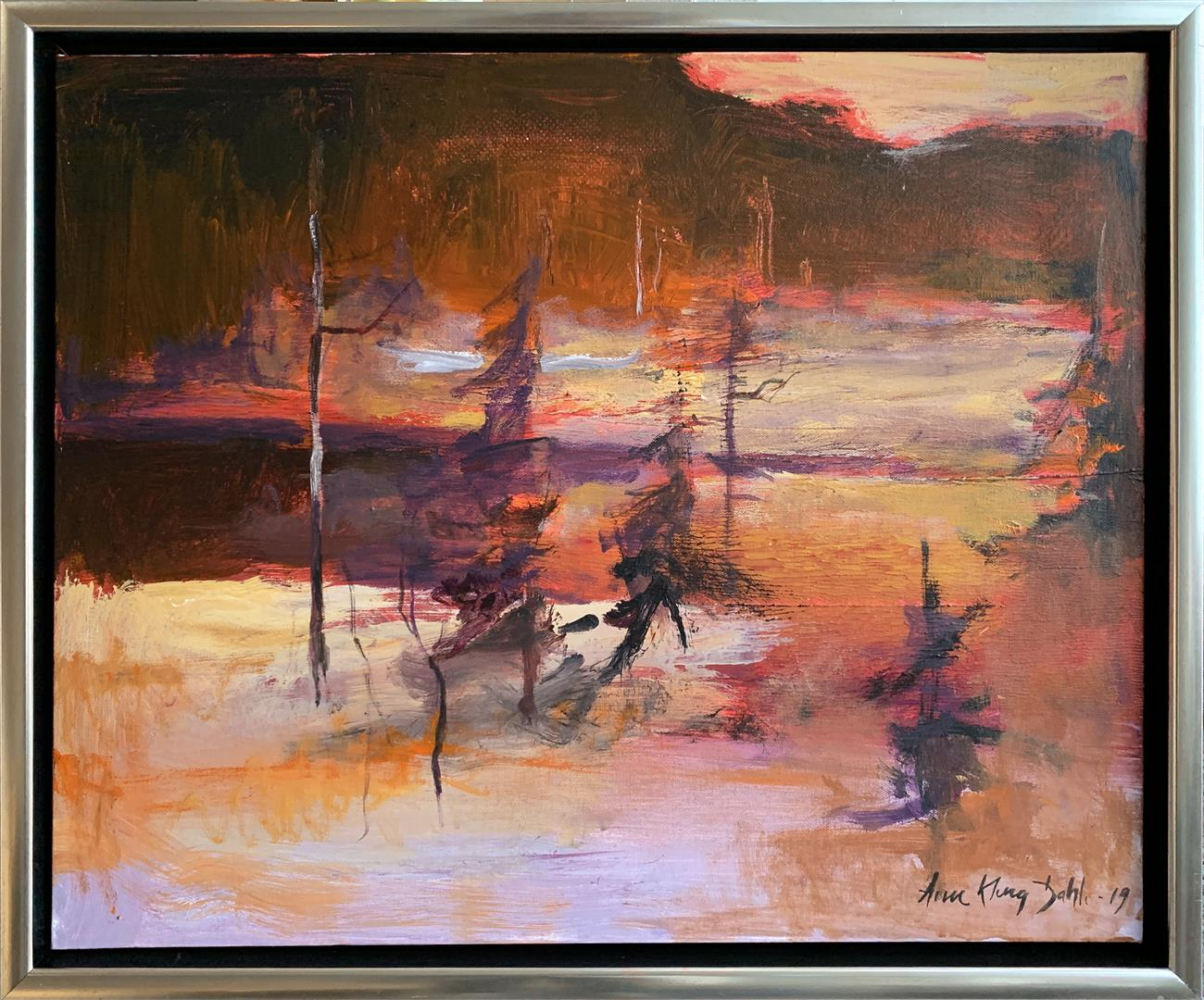 Arne Kleng Dahle: Tjernet Akrylmaleri (50x60 cm) kr 6000 mr