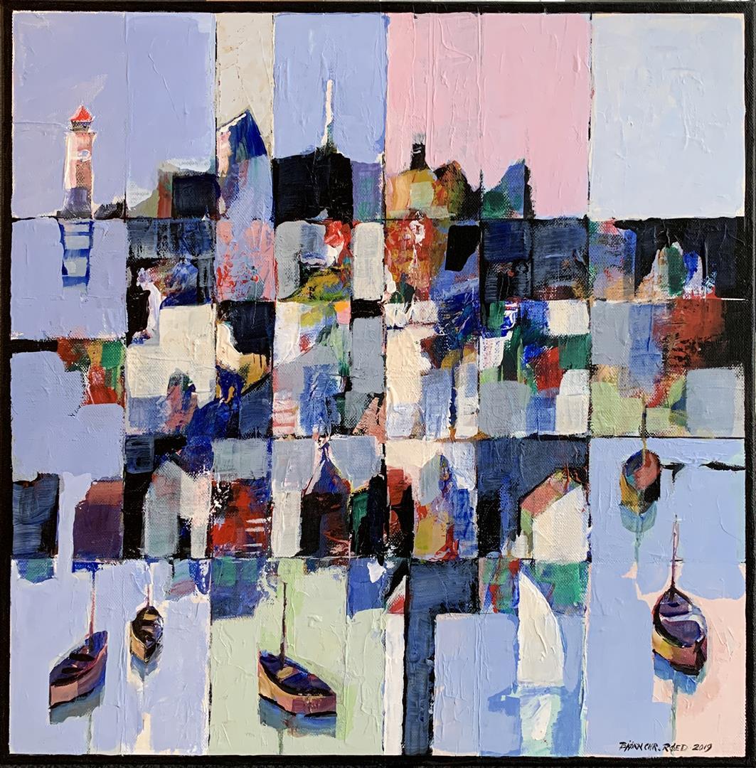 Bjørn-Christian Røed: Sommerdag Akrylmaleri (50x50 cm) kr 5500 ur