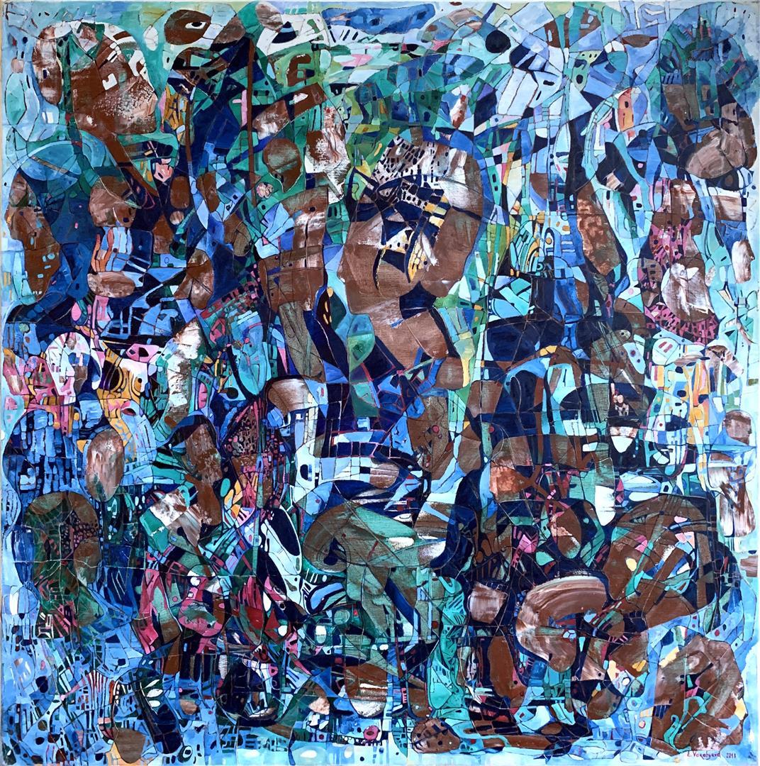 Elena Vorobyeva: Kveld Oljemaleri (100x100 cm) kr 35000 ur