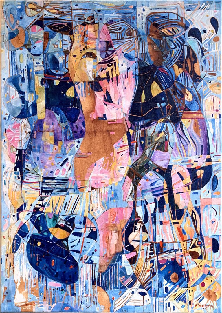 Elena Vorobyeva: Kveldsmøte Oljemaleri (70x50 cm) kr 15000 ur