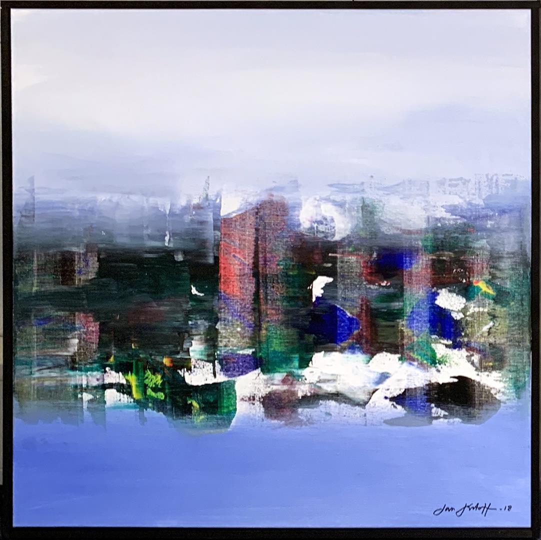 Jan Kristoffersen: Morgentåke Akrylmaleri (60x60 cm) kr 6500 mr