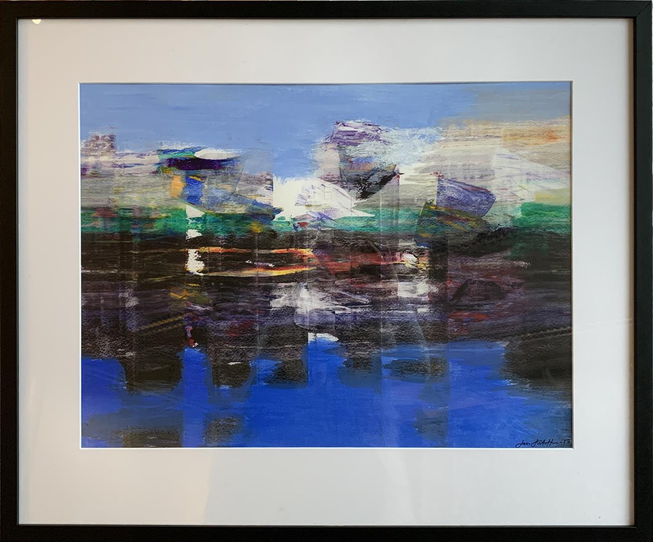 Jan Kristoffersen: Ut mot havet II  Akrylmaleri på papir (45x60 cm) kr 6000 mr