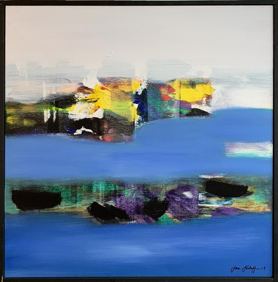 Jan Kristoffersen: Ved sjøen Akrylmaleri (60x60 cm) kr 6500 mr