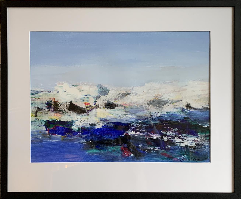 Jan Kristoffersen: Vinterfjell Akrylmaleri på papir (42x57 cm) kr 6000 mr