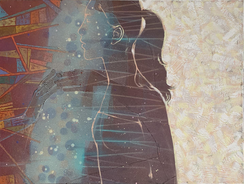 Julia Mordvinova Gilje: Jeg så deg i drømmene Akryl, olje (60x80 cm) kr 7000 ur