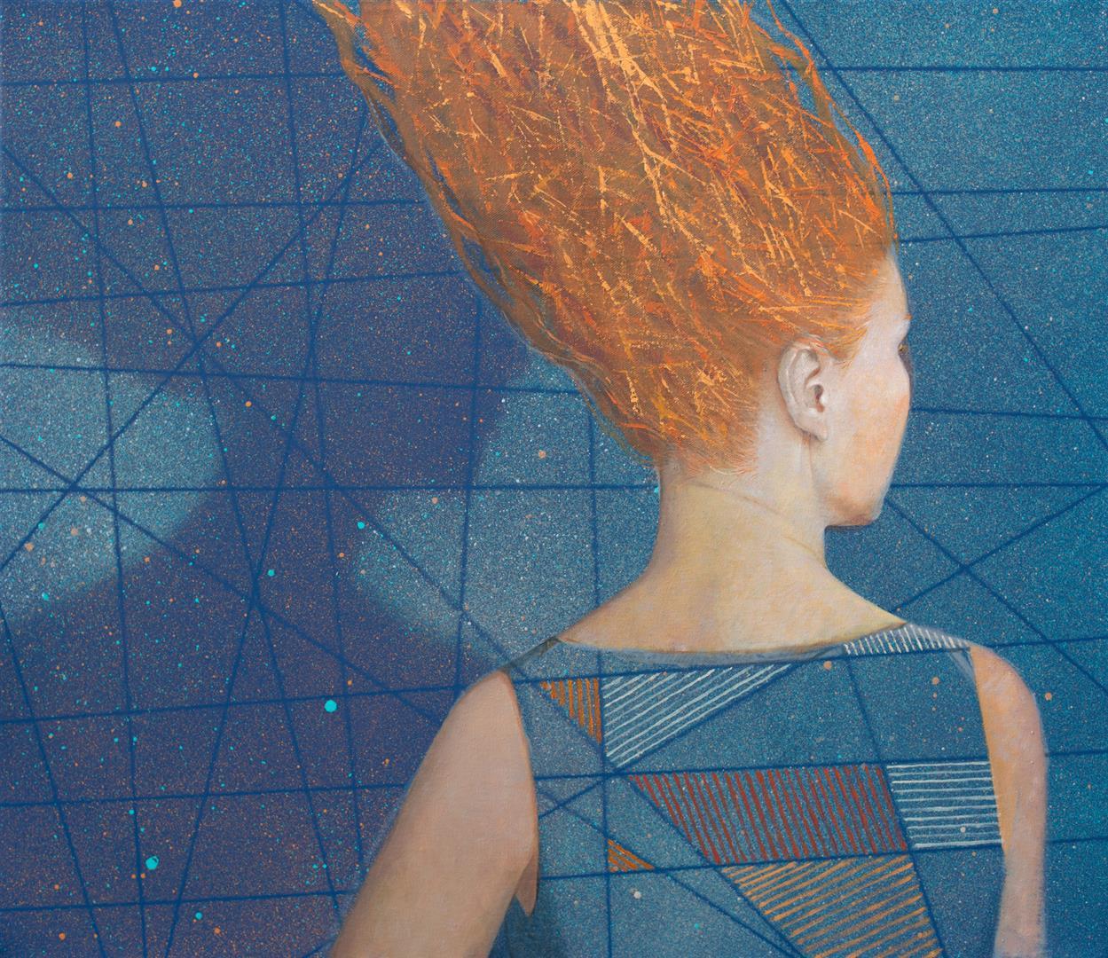 Julia Mordvinova Gilje: Meg og min skygge 2 Oljemaleri (60x70 cm) kr 8000 ur