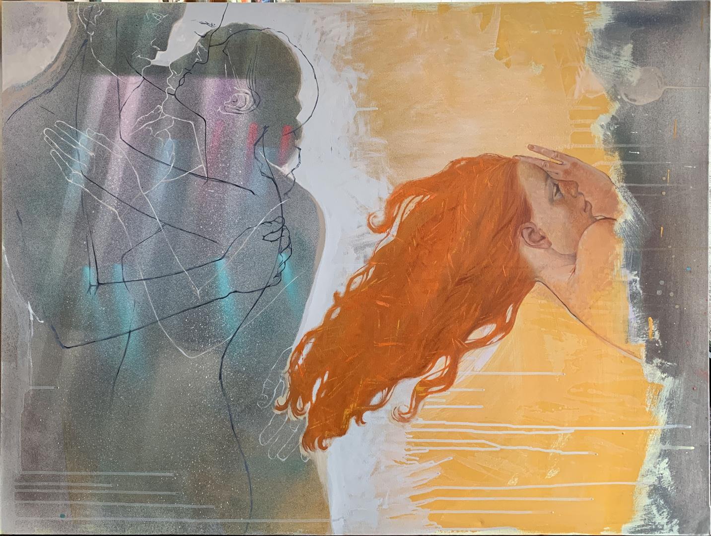 Julia Mordvinova Gilje: Sanne drømmer Oljemaleri (90x120 cm) kr 18000 ur
