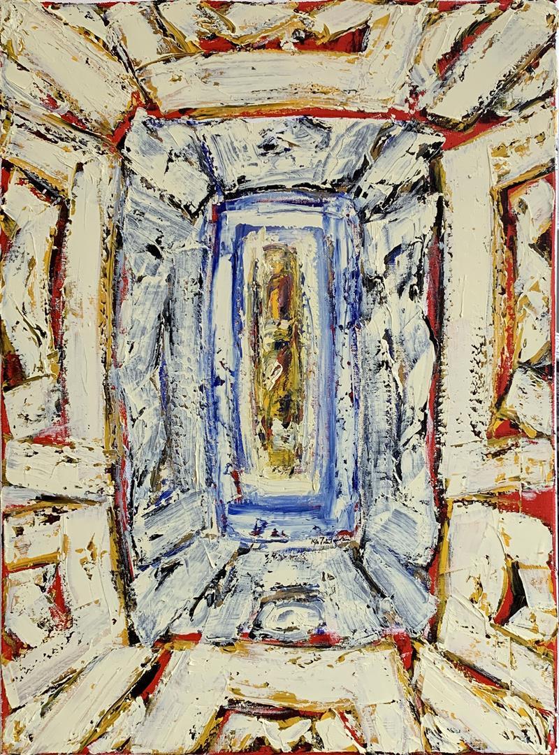 Kjell Pahr-Ivresen: Ikon Oljemaleri (70x50 cm) kr 35000 ur