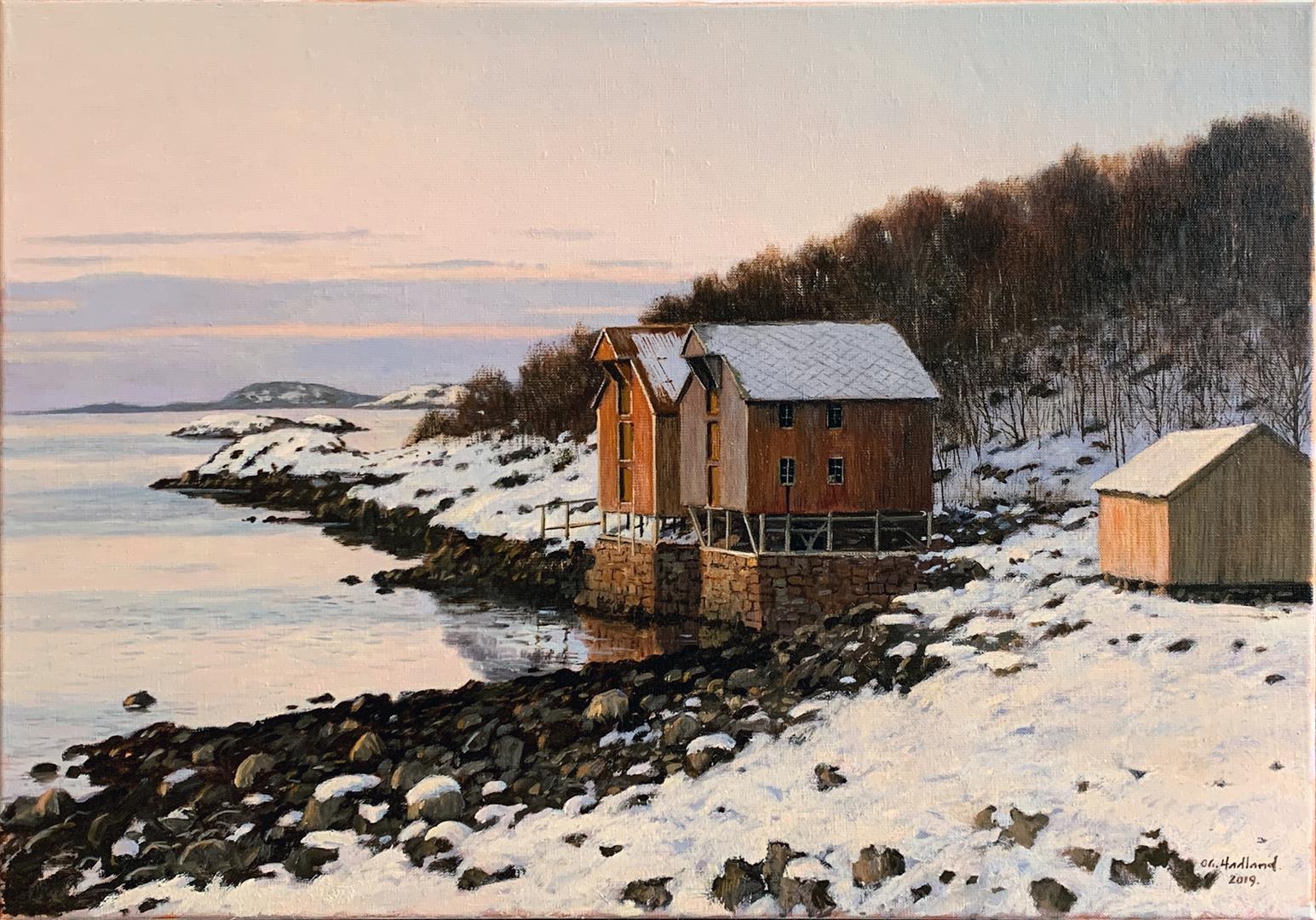 Odd-Geir Hadland: Fra Helgelandskysten Oljemaleri (50x70 cm) kr 15000 ur