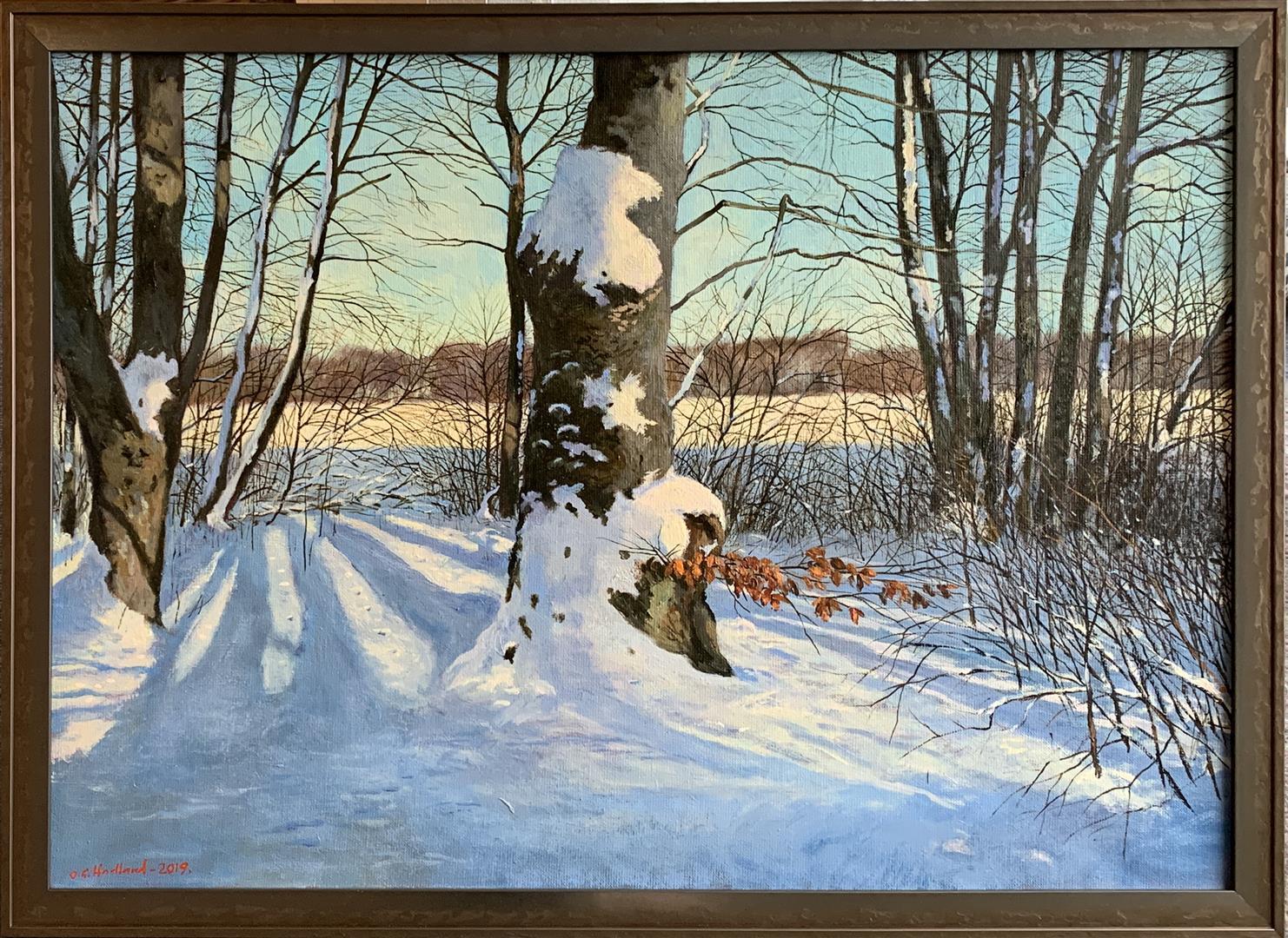 Odd-Geir Hadland: Fra Mosvannet Oljemaleri (50x70 cm) kr 16500 mr