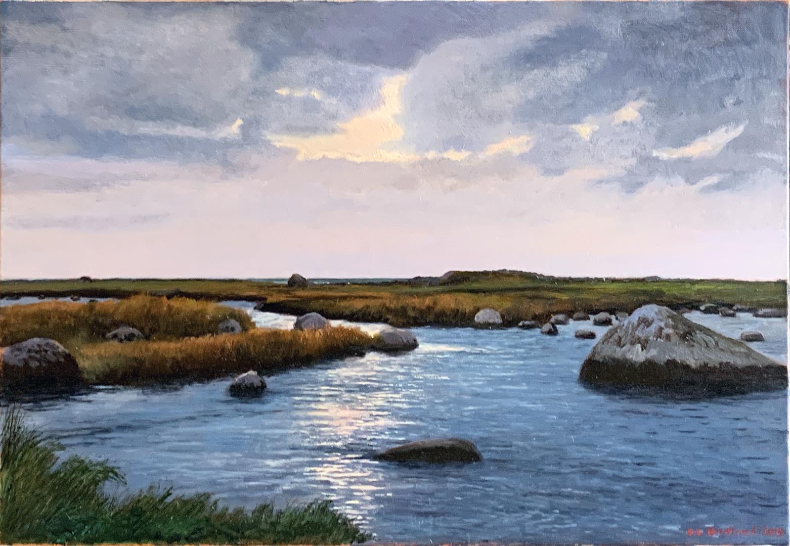 Odd-Geir Hadland: Hå-elva I Oljemaleri (38x54 cm) kr 10000 ur