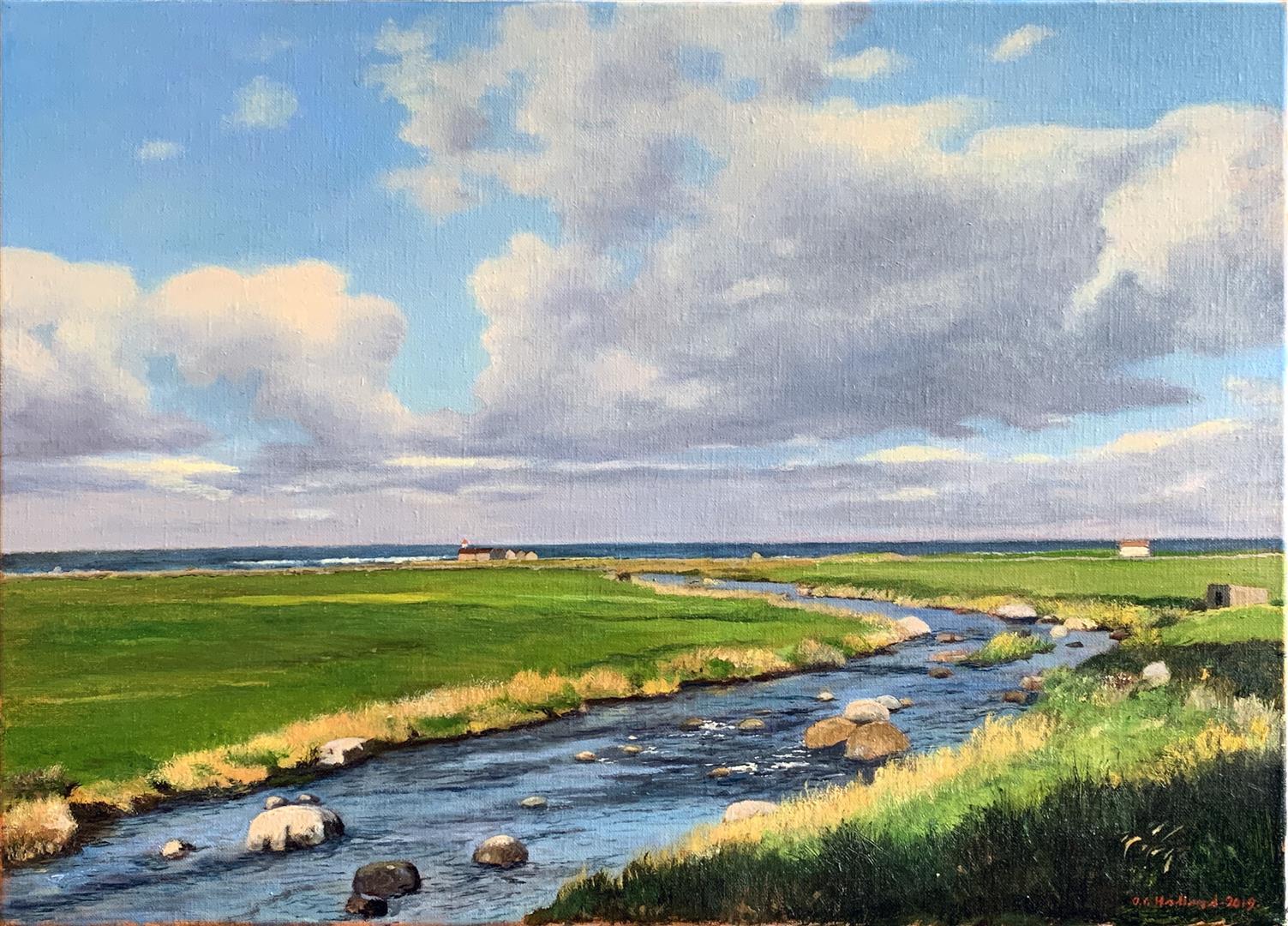 Odd-Geir Hadland: Hå-elva II Oljemaleri (44x60 cm) kr 13000 ur