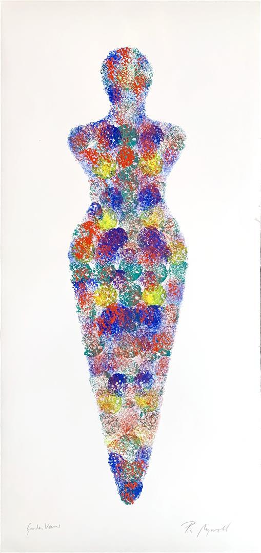 Pia Myrvold: Garden Venus Akryl på papir (65x26 cm) kr 6100 mr