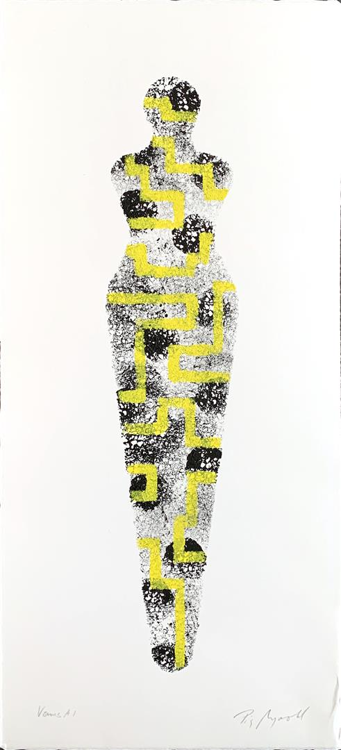 Pia Myrvold: Venus A1 Akryl på papir (50x20 cm) kr 4400 mr