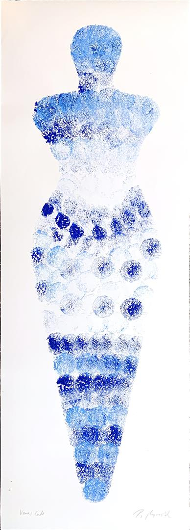 Pia Myrvold: Venus Code Akryl på papir (98x39 cm) kr 9500 mr