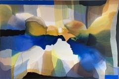 Annette Bryne: Fri flyt I Akrylmaleri (80x120 cm) kr 13000 ur