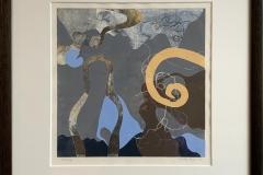 Annette Bryne: Komposisjon I Monotypi (30x30 cm) kr 5000 mr