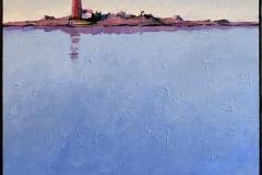 Bjørn-Christian Røed: Havblikk Akrylmaleri (60x60 cm) kr 6000 ur