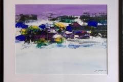 Jan Kristoffersen: Jærlandskap I Akrylmaleri på papir (43x57 cm) kr 6000 mr