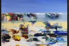 Jan Kristoffersen: Ut mot havet I  Akrylmaleri (60x60 cm) kr 6500 mr