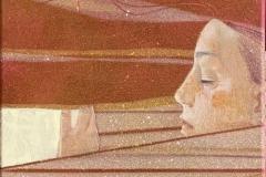 Julia Mordvinova Gilje: Morgendrøm Akryl, olje (60x30 cm) kr 3900 ur