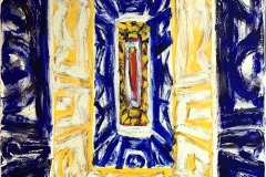 Kjell Pahr-Ivresen: Ikon Oljemaleri (150x100 cm) kr 80000 ur