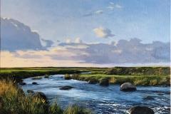 Odd-Geir Hadland: Hå-elva III Oljemaleri (44x60 cm) kr 13000 ur