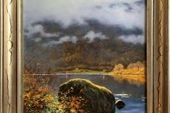 Odd-Geir Hadland: Innerst i fjorden, Balestrand Oljemaleri (42x32 cm) kr 9000 mr