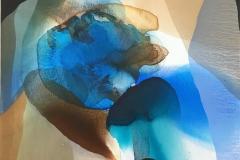 Annette Bryne Farger og fly I Akrylmaleri (60x60 cm) kr 6000