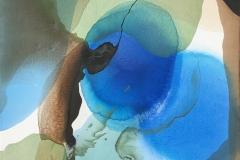 Annette Bryne Farger og fly V Akrylmaleri (60x60 cm) kr 6000