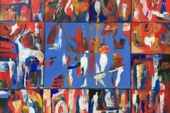 Bjørn-Chr. Røed En julefortelling Akrylmaleri (100x80 cm) kr 18000