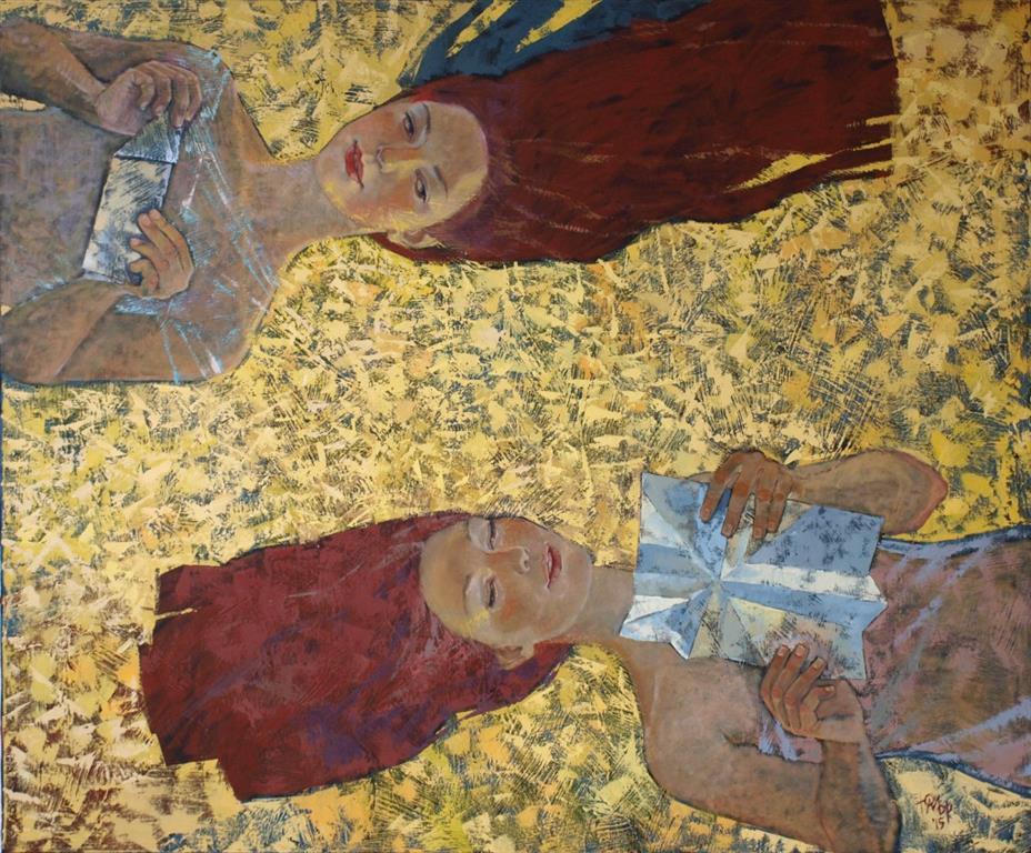 Papirfly Oljemaleri (100x120 cm) kr 13000 ur