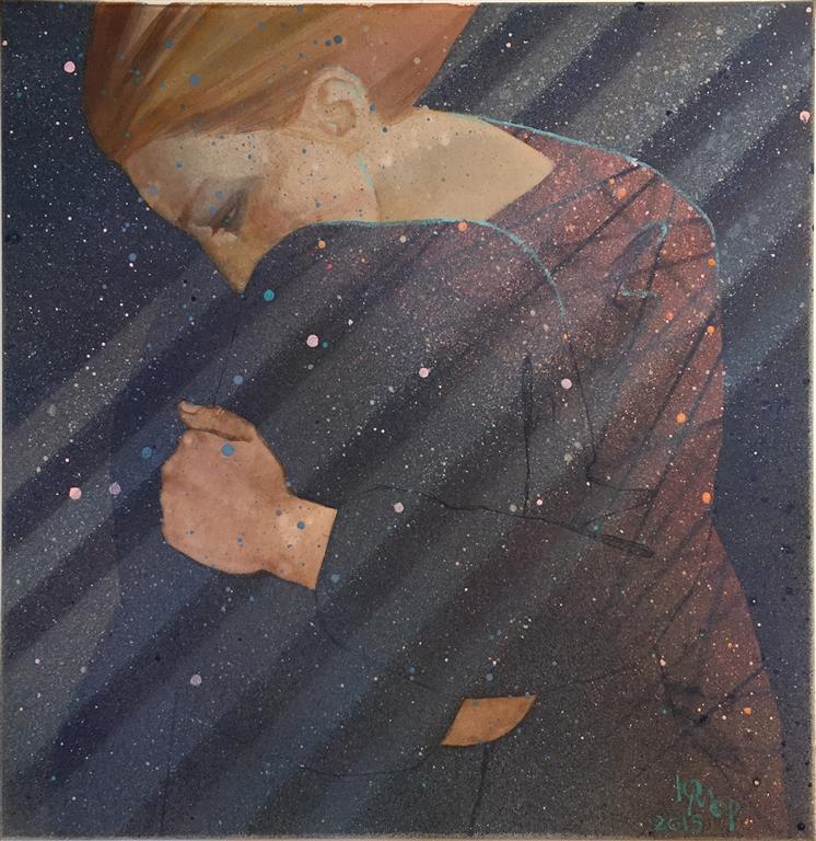 Skygge Akrylmaleri (50x50 cm) kr 5000 ur
