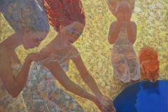 Morgenritual Oljemaleri (100x100 cm) kr 11000 ur