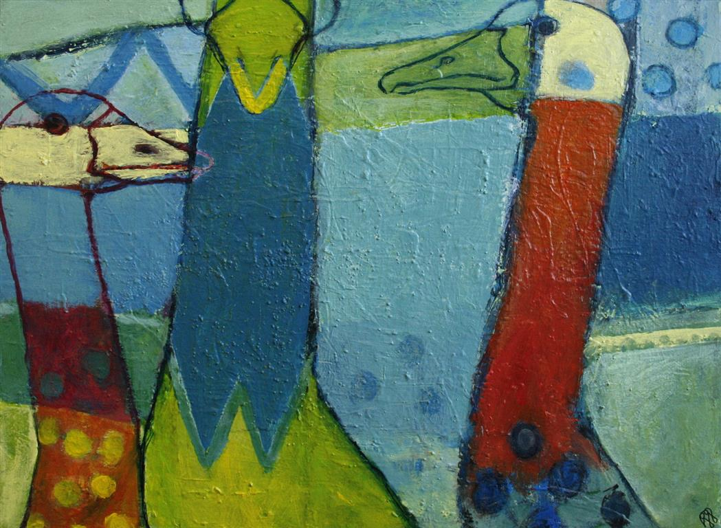Gaaseportrett Akrylmaleri 60x80 cm 4000 mr