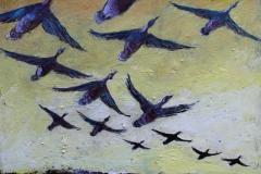 Fugletrekk I Akrylmaleri 40x40 cm 2000 ur
